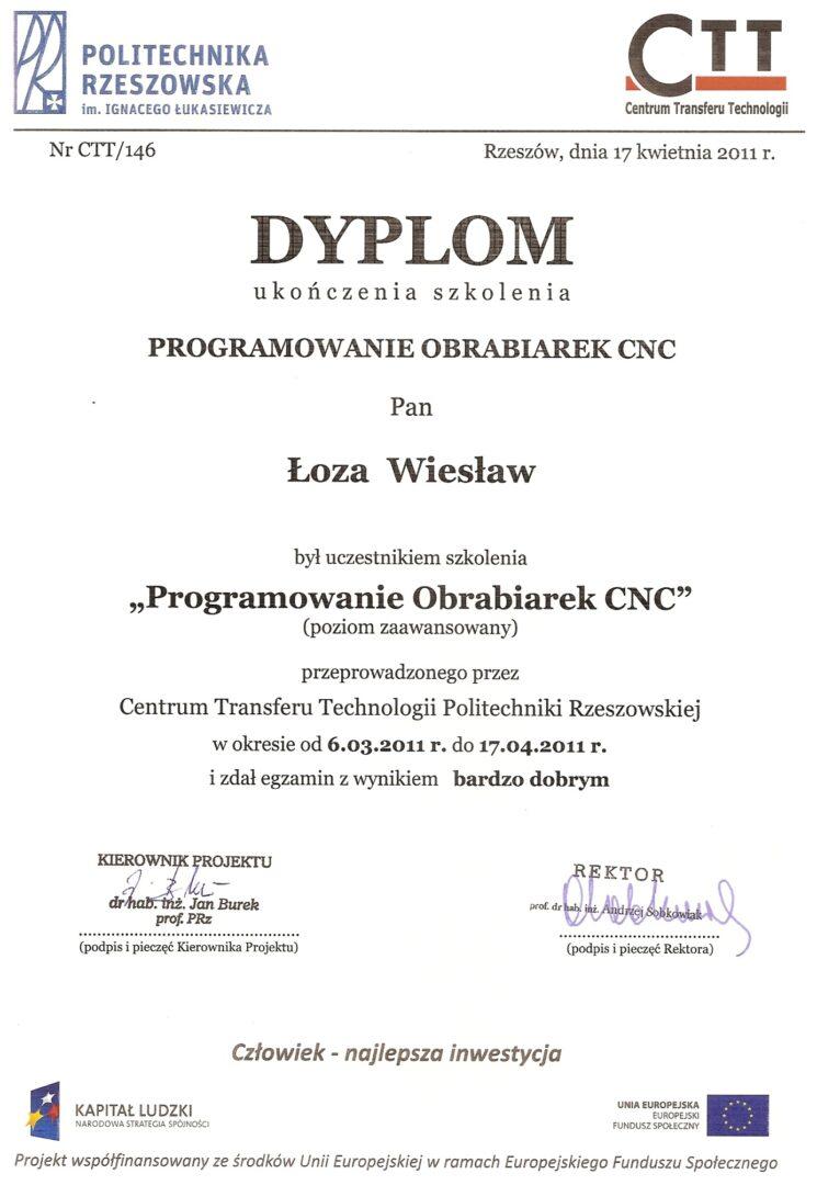 Politechnika Rz. Szkolenie CNC