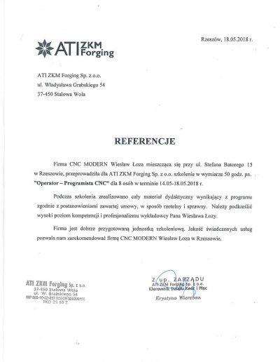 ATI ZKM Forging